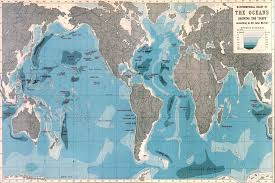 world ocean depths map wallpaper mural murals wallpaper