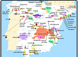 Spain Regions Map by Wine And Beyond U003e Wine U003e Old World Wines U003e Spain