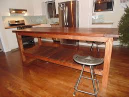 farmhouse kitchen table island with armless stools and bottom