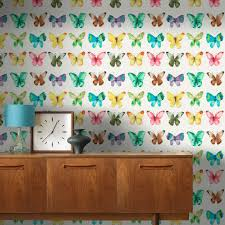 Girls Pink Bedroom Wallpaper by Girls Bedroom Butterfly Wallpaper In Pink White Teal More New