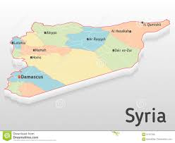 Damascus Syria Map by Syria Map 3d With Main Cities And Governorates Volumetric Map