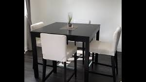 Kitchen Bar Table Ikea Bjursta Bar Table Brown Black Assembly Set Up Ikea