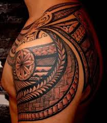 beautiful maori tribal on left shoulder for