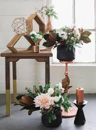 Industrial Elegant Copper Wedding Inspiration Green Wedding Shoes