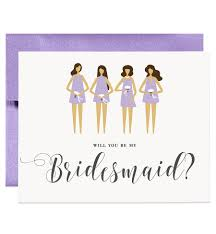 will you be my bridesmaid will you be my bridesmaid card lilac purple bridesmaid