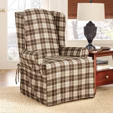 Wingback Chair Slipcover Pattern Decorating Affordable White Wing Chair Slipcover With Skirt With