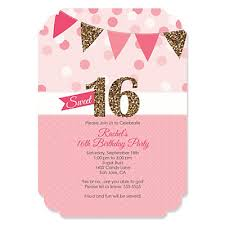sweet 16 personalized birthday invitations