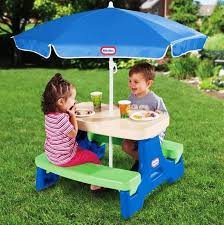 little tikes easy store picnic table little tikes easy store picnic table with umbrella archives little