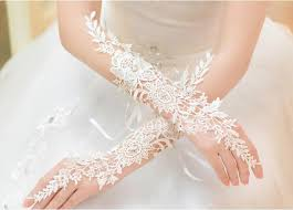 2015 sale bridal gloves lace crystal fingerless glove wedding