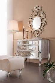 Modern Mirrored Nightstands Mirrored Desk Furniture Vanities And Offices