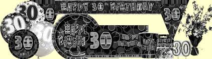 30th birthday decorations 30th birthday black silver party supplies party wizard