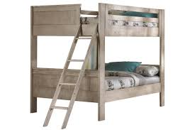 White FullOverFull Bunk Bed With Staircase - Full over full bunk bed