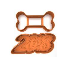new year cookie cutters 3d printable model cookie cutter pack new year 2018