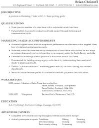 Sample Objectives On Resume by Resume For Marketing Sales Susan Ireland Resumes