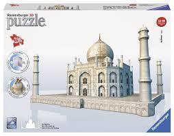 amazon com taj mahal 3d puzzle 216 piece toys u0026 games