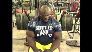 Ronnie Coleman Bench Ronnie Coleman Legs Training Bodybuilding Muscle Fitness