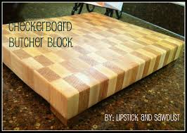 lipstick and sawdust checkerboard butcher block tutorial checkerboard butcher block tutorial