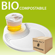 bicchieri di plastica sono riciclabili bio 240 piatti 8 conf da 30 pz spedizione gratuita diglass