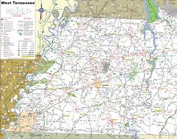 Kentucky Tennessee Map by Map Of West Tennessee