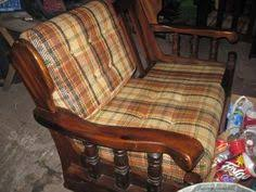 vintage late 70 u0027s real wood frame couch cushion printed retro