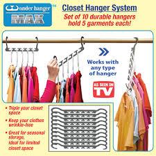 Closet Hanger Organizers - wonder hanger max closet organizer from collections etc