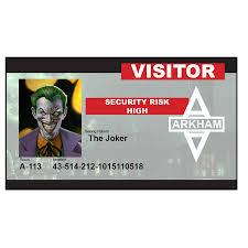 arkham city calendar man halloween visiting the joker at arkham asylum id badge just 2 50 from alien