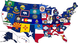 map usa and states usa state flag map map of the usa with their states flags