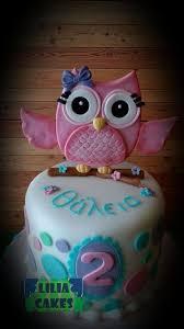 owl cake pink owl cake cake by liliacakes cakesdecor