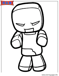 minecraft zombie coloring pages printable