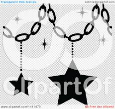 White Christmas Star Decorations by Clipart Of A Black And White Christmas Star Decoration Icon