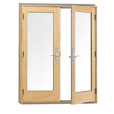Swing Patio Doors Andersen 400 Series Frenchwood Pine Interior Hinged Inswing Patio