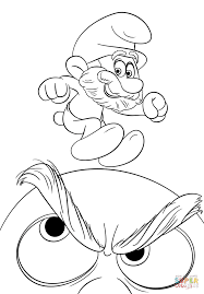 papa smurf coloring free printable coloring pages