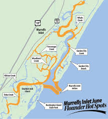 murrells inlet map it s flounder south carolina flounder fishing doesn t get