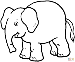 funny elephant coloring page free printable coloring pages