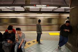 end of the free subway ride in los angeles the new york times