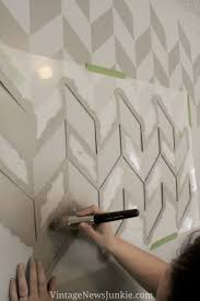 Accent Wall Patterns by Wall Paint Patterns Ideas