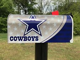 Cowboys Flag Dallas Cowboys Themed Mailbox