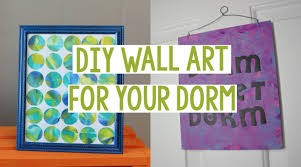 diy wall art for your dorm dorm decor easy dorm decor youtube