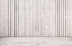 white polished concrete floor with wood wall stock photo picture