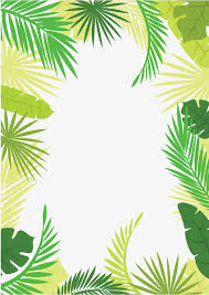 vector tree leaves border summer border summer border