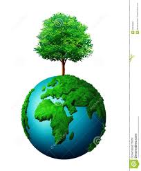 tree growing from world globe royalty free stock images image
