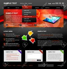 editable website template 4 color variant 4 red on dark royalty