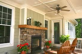 Screen Porch Fireplace by Outdoor Fireplace See Through Traditional Porch Charlotte