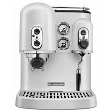 Kitechaid Kitchenaid Artisan Espresso Machine Frosted Pearl Coffee