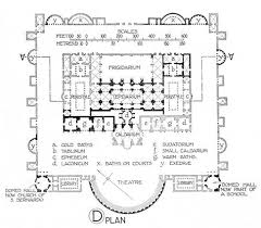 Baths Of Caracalla Floor Plan 296 Roman Architecture First Style Wall Painting C 200 U201360 Bc