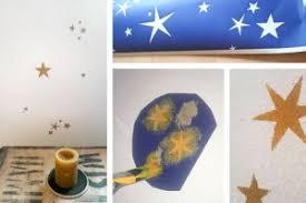 schablone wandgestaltung sterne an die wand malen anleitung mit schablone diy tutorial