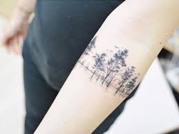 cover tree on the right inner forearm