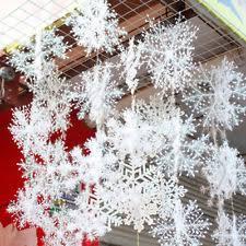plastic snowflakes ebay