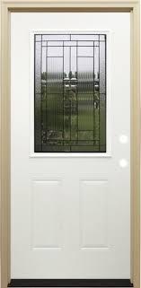 Prehung Exterior Doors 242 Mastercraft La 656 Primed Steel Half Lite Prehung Exterior