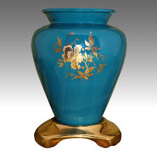Blue Flower Vases Flower Vases Memorial Vases Beside Your Cremation Urn